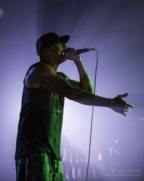 (hed) PE vocalist Jahred at Houston's Scout Bar on July 11, 2014.