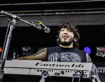 Shattered Sun keyboardist Henry Garza at River City Rock Fest.