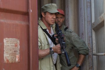 "Sylvester Stallone and Jason Statham star in ""Expendables 3."""
